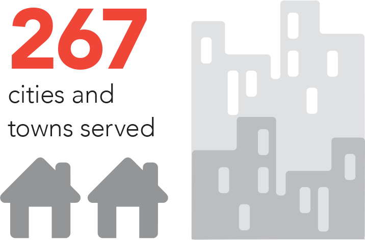 267 Cities and Towns Served by OG&E