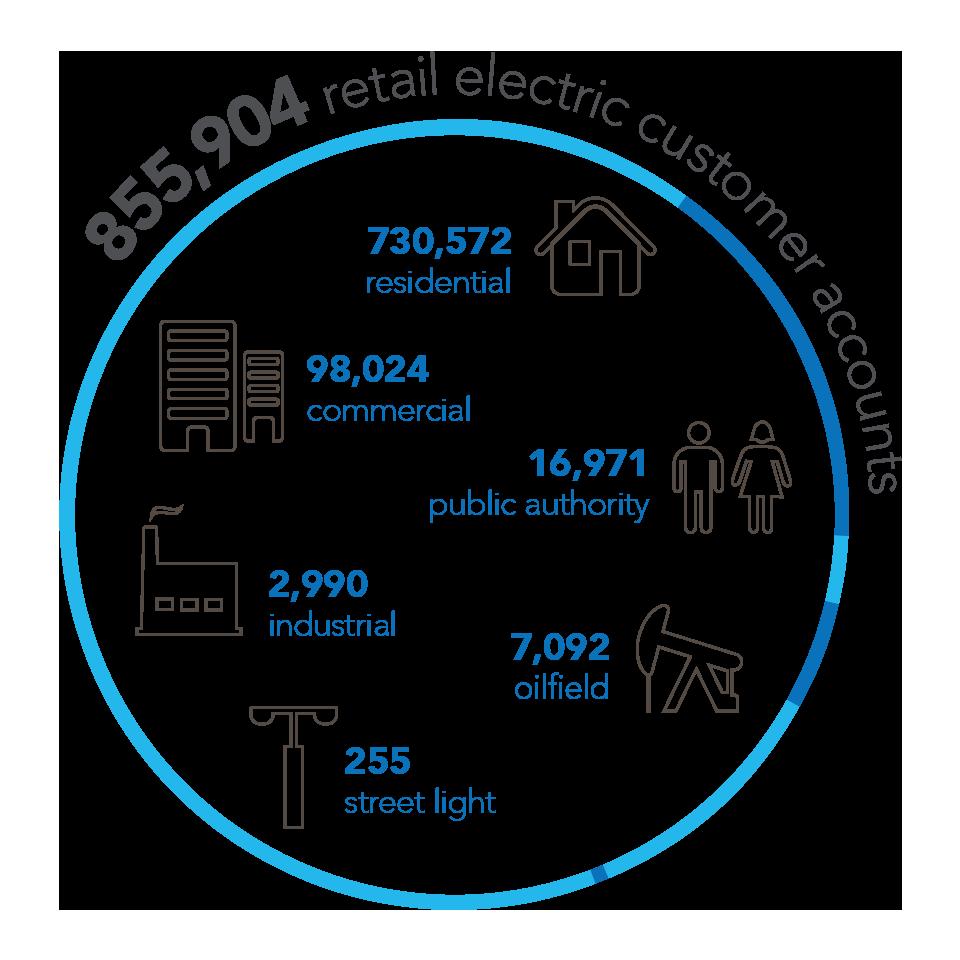 855,904 Retail Electric Customer Accounts